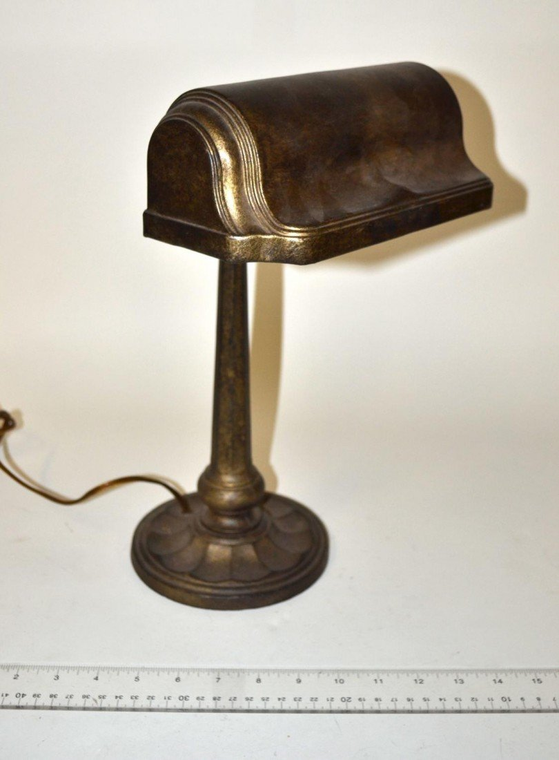7: Patinated Metal Students Lamp