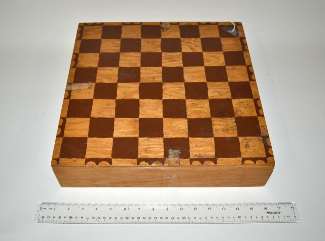 10: Stylized Unglazed Ceramic Chess Set