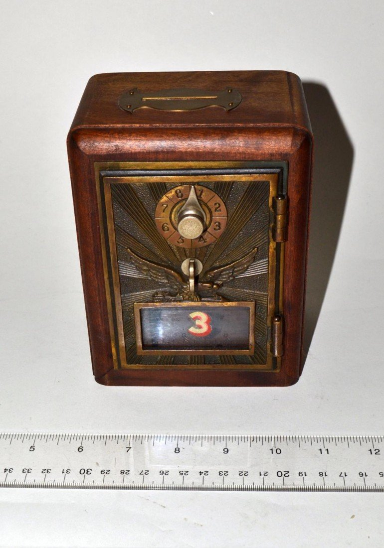 17: Vintage Art Deco Post Box Bank