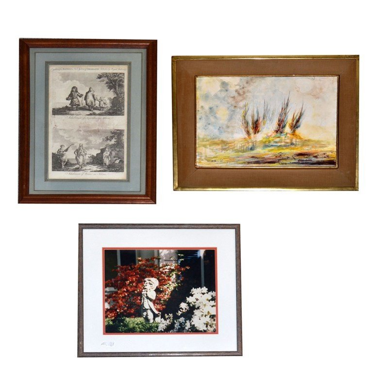 19: Three Framed Pictures