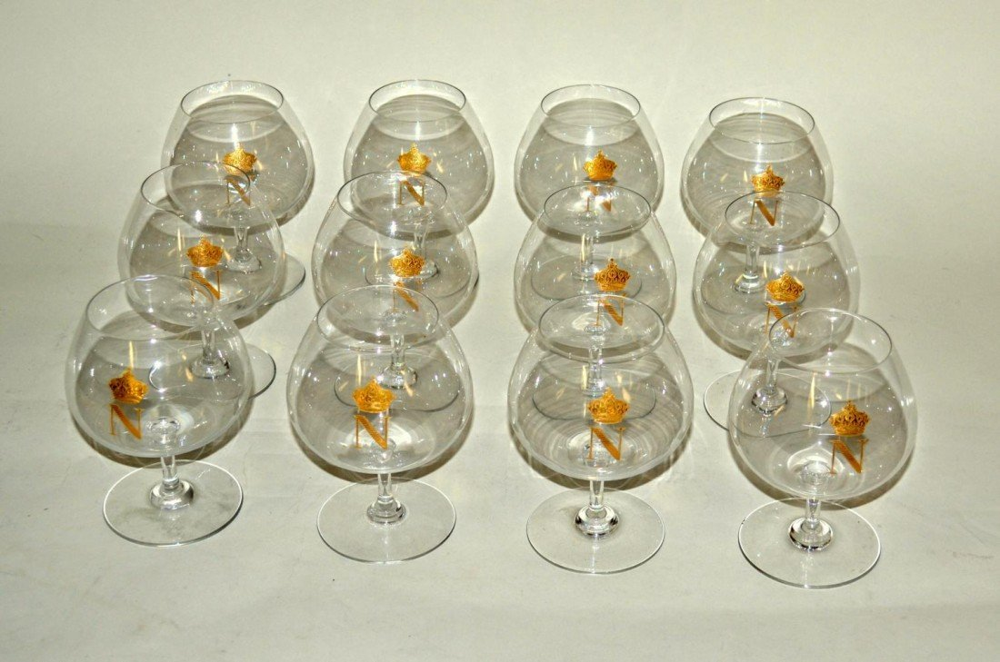 23: Set of 12 Baccarat Brandy Snifters