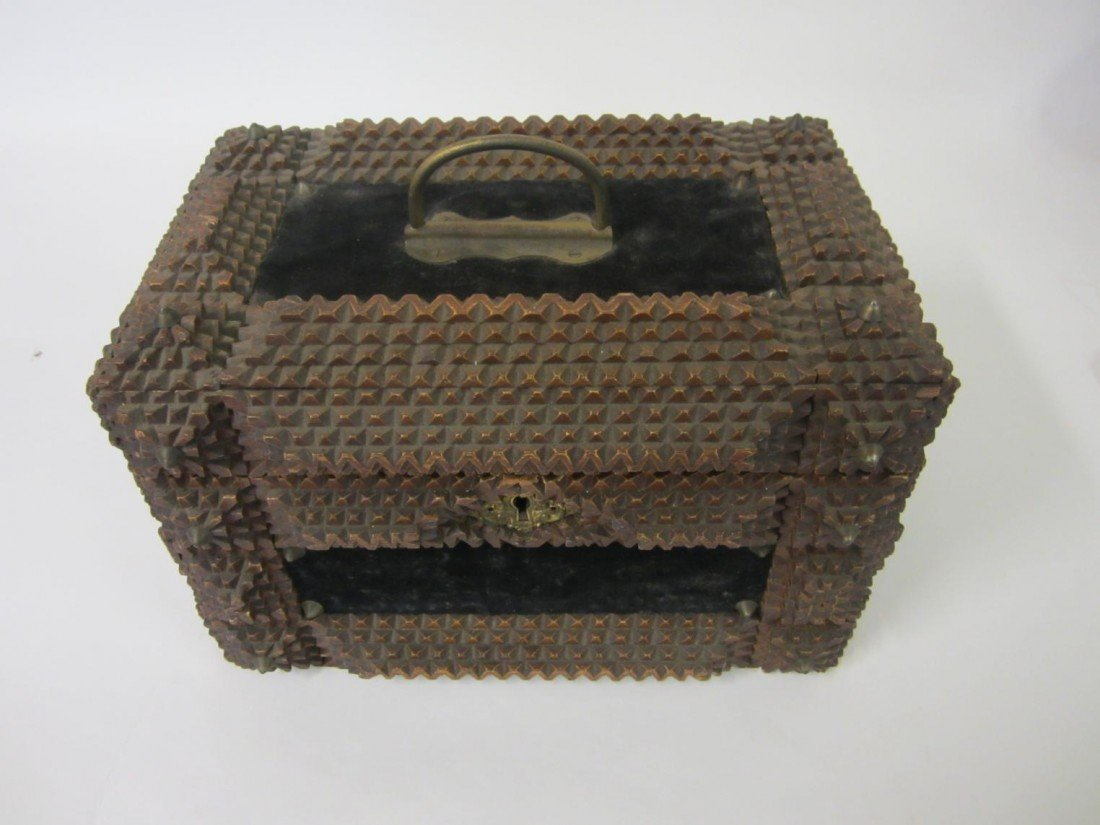 1: Antique Tramp Art Box