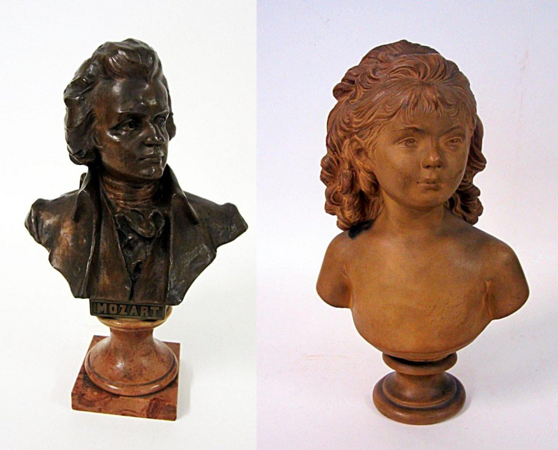 2: Two Bust Sculptures