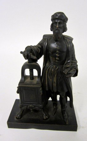 Bronze Gutenberg Sculpture