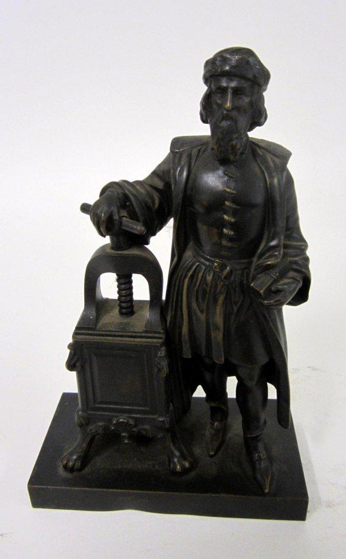 4: Bronze Gutenberg Sculpture