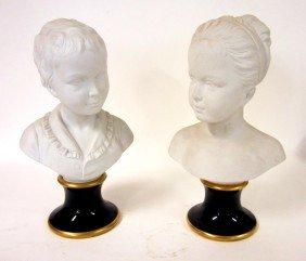 9: Pair of Unterweissbach Bisque Busts