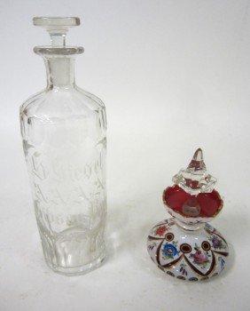 15: Two Antique Cut Glass Vessels