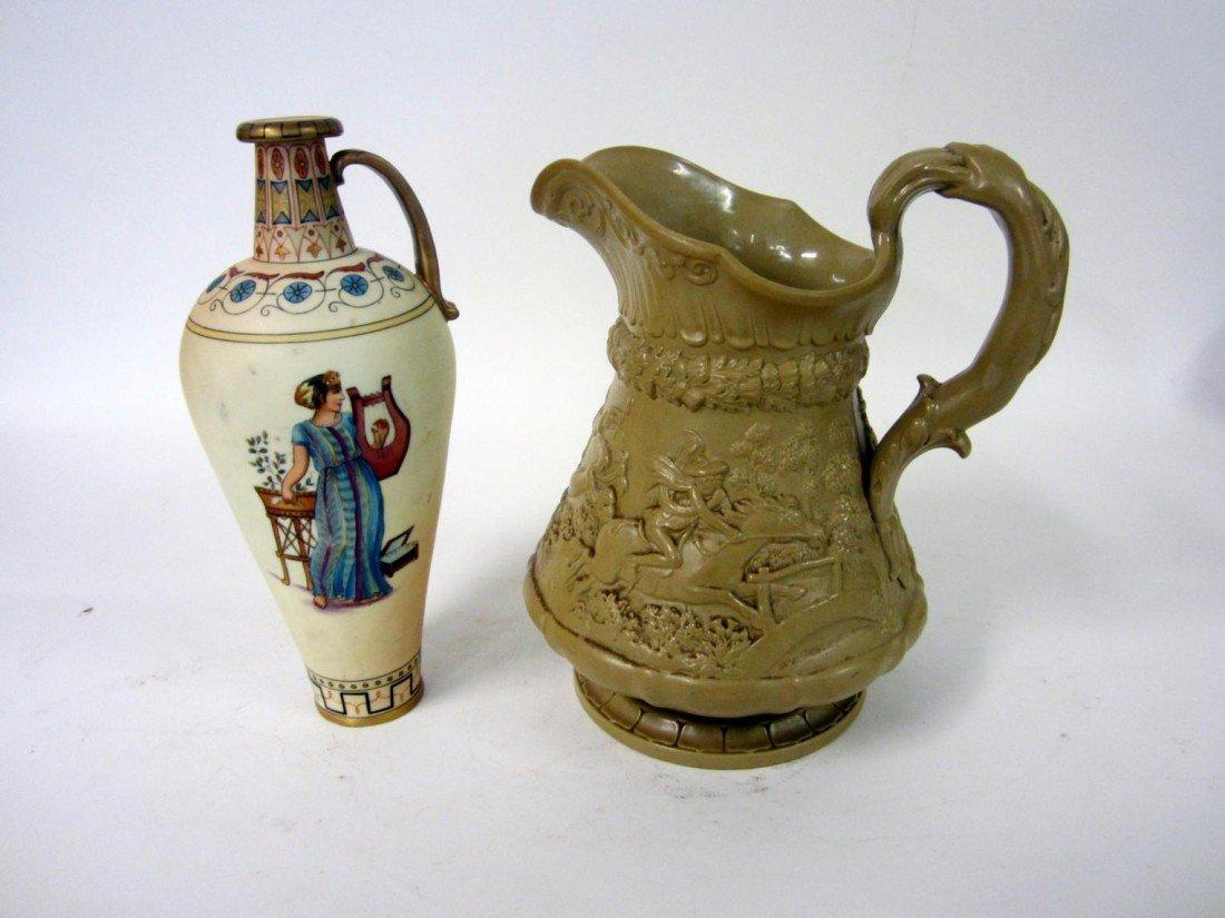 19: 2 Ceramic Vessels: Neoclassical & Colonial Rev.
