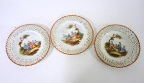 20: Set of Three Lille 1767 Hand Painted Plates