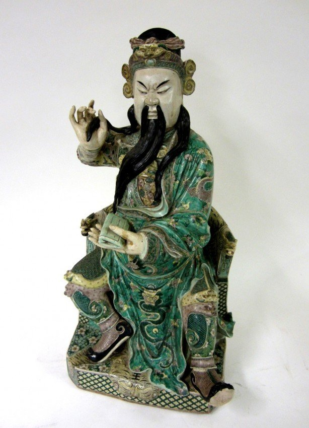 74: Sculpture of Kuan Ti from Madame Chiang Kai-Shek