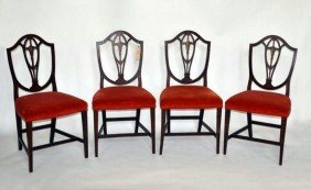 Set Of Four Adams Style Chairs