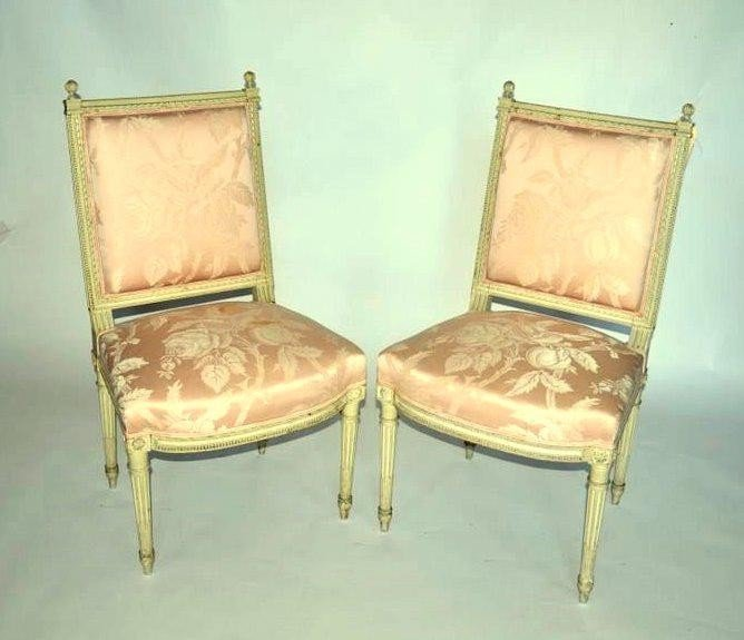 102: Pair of Louis XVI Side Chairs