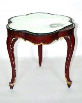 Decorated Cloverleaf Table