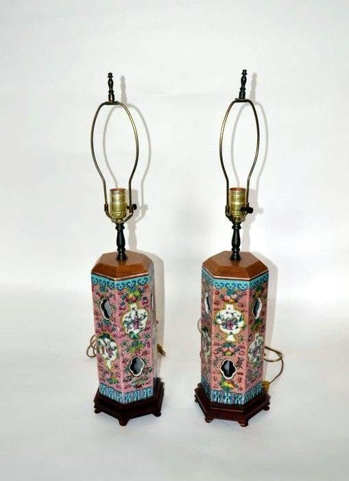 107: Pair of Chinese Lamps
