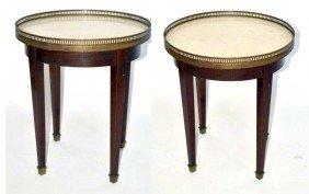 Pair Bouillotte Tables