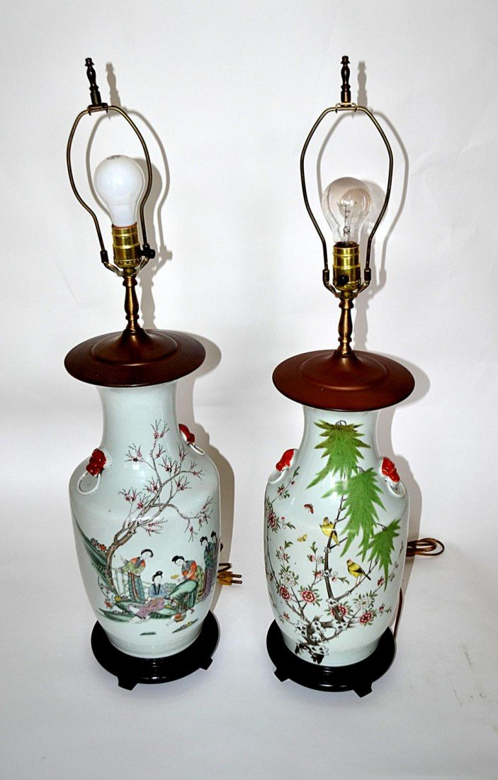 111: Pair of Chinese Lamps
