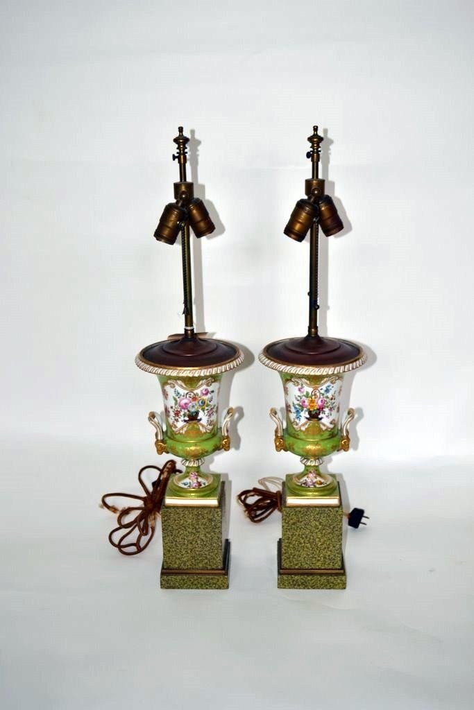 113: Pair of Old Paris Style Lamps