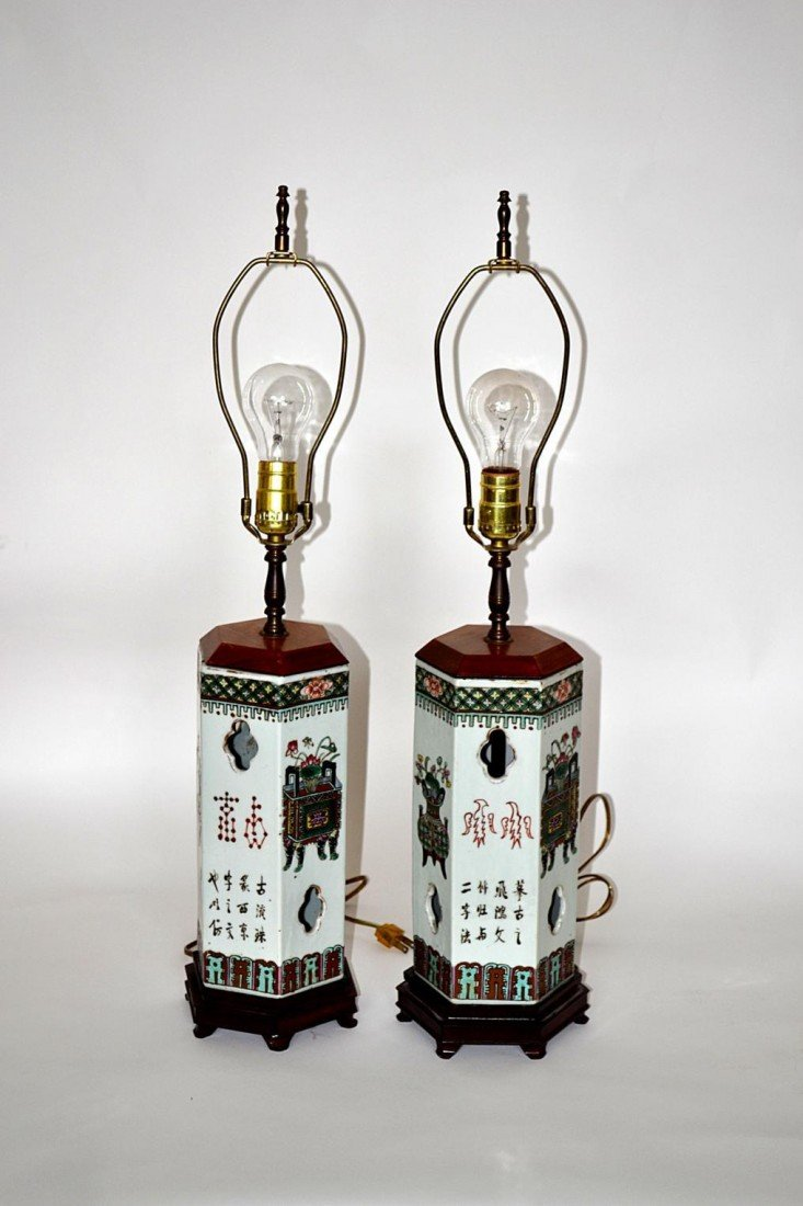 116: Pair of Chinese Lamps