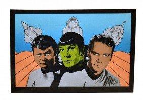 Vintage Pop Art Silkscreen, Star Trek
