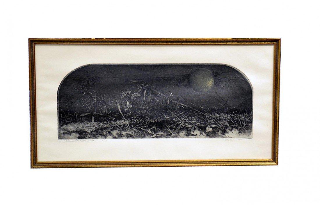 "129: Barry Moser Etching ""Teosculorum Nocturnum"""