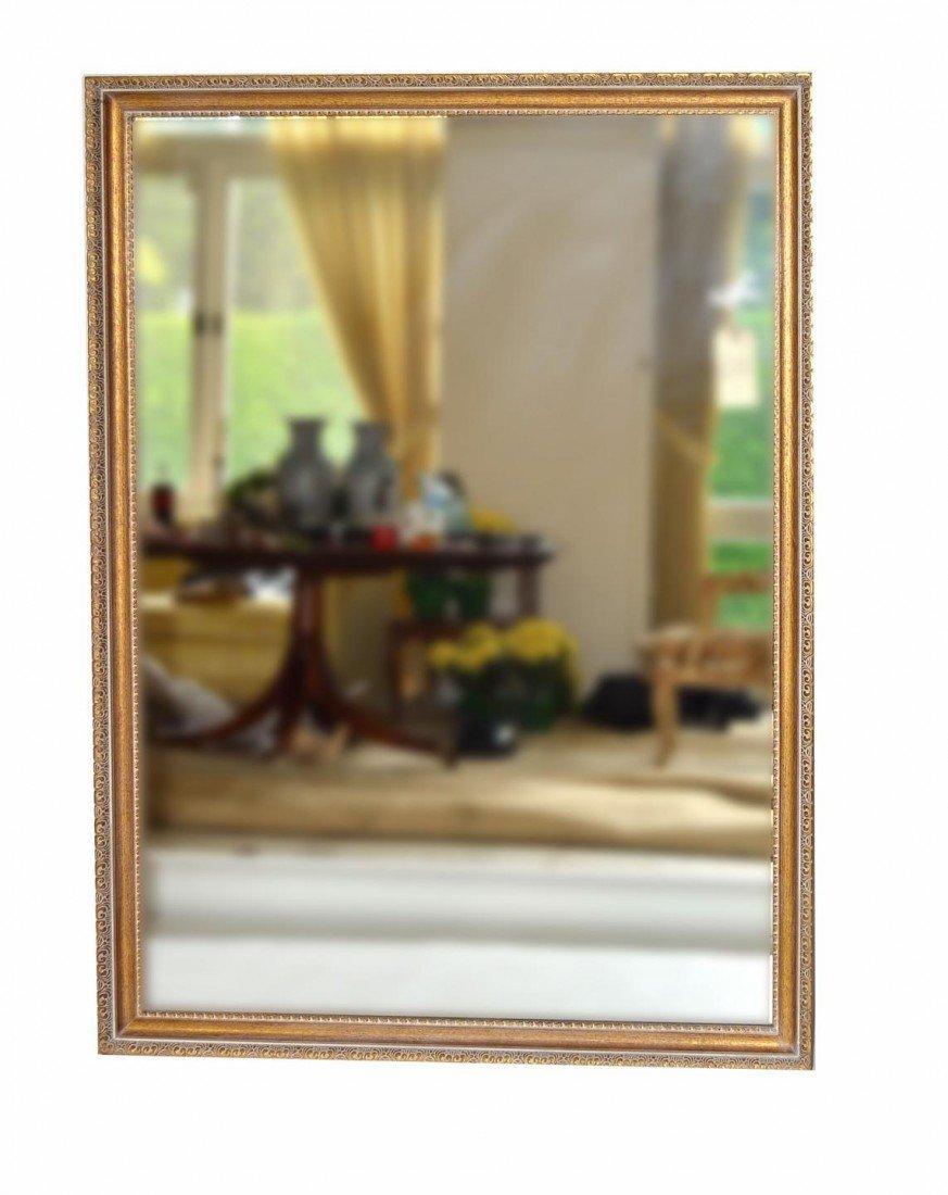 133: Parcel-Gilt and Limed Oak Mirror