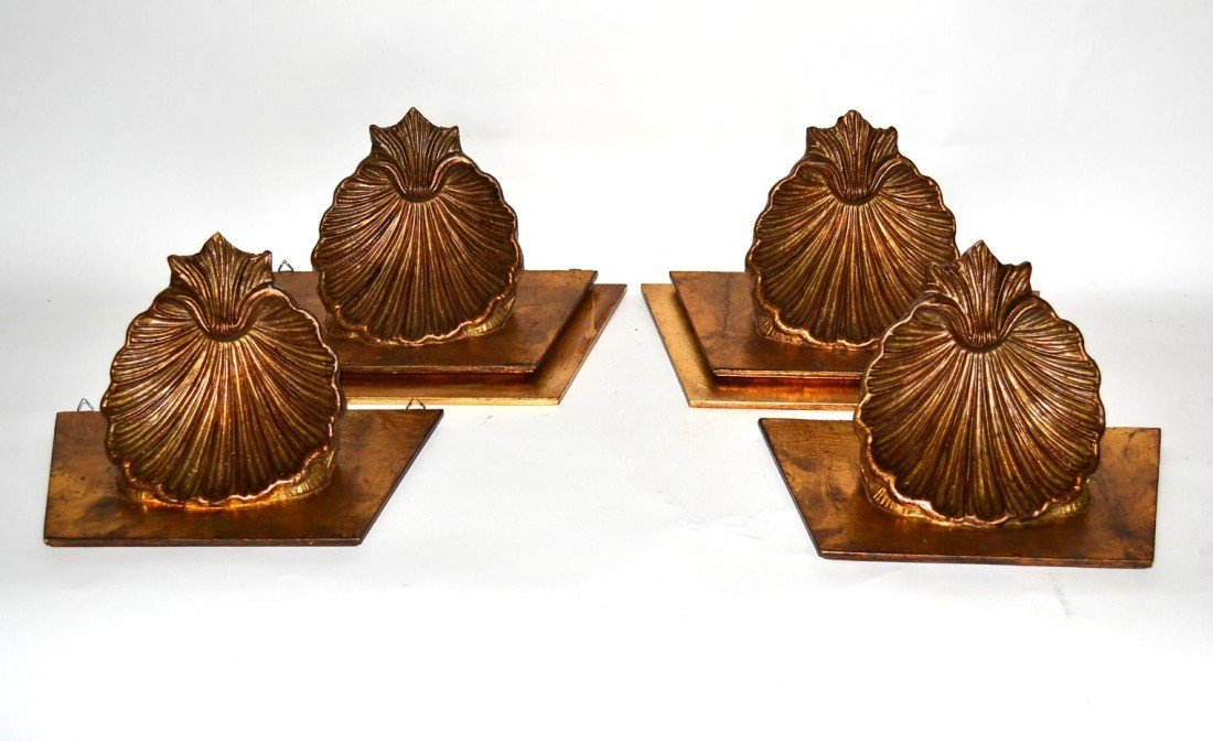 135: Set of Four Shell Brackets