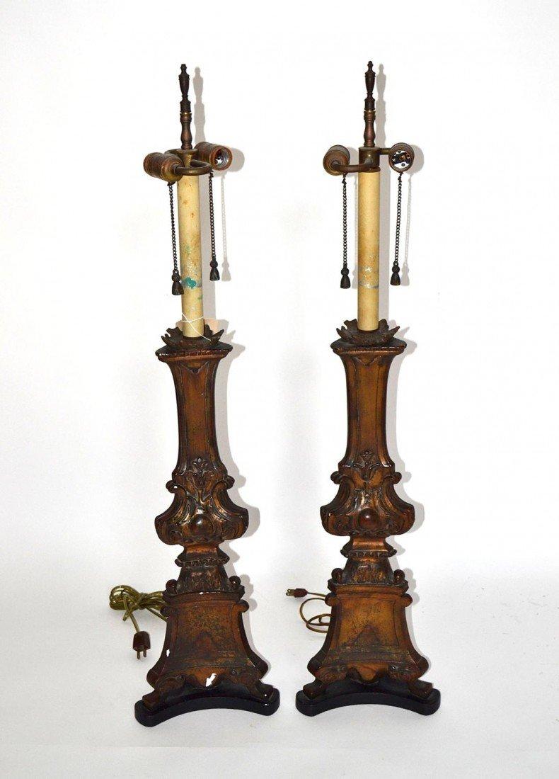 136: Pair of Italian Lamps