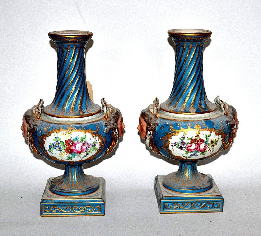 142: Pair of Porcelain Vases