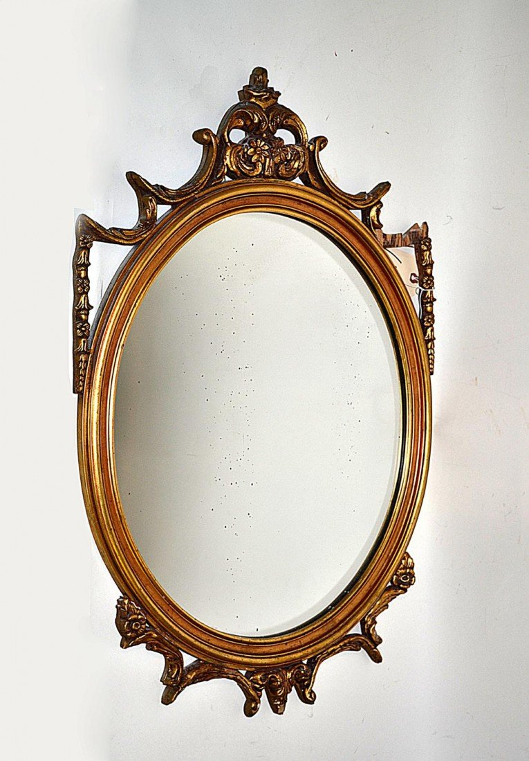 144: Gilt Oval Mirror