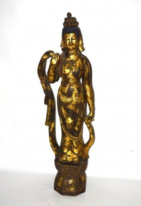 Antique Chinese Sculpture Of A Woman