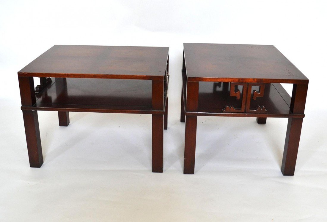 204: Pair of Mahogany End Tables