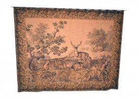 Tapestry, Deer In Landscape