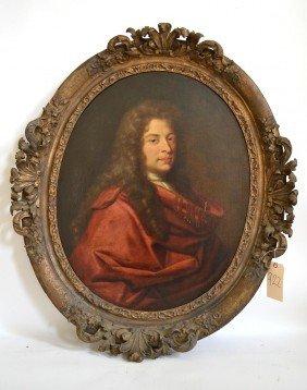 Antique Oil On Canvas, Man