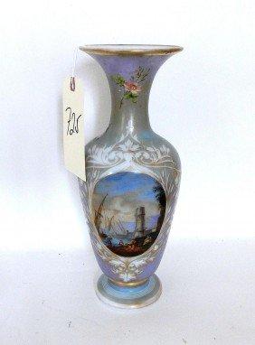Opaline Decorated Vase