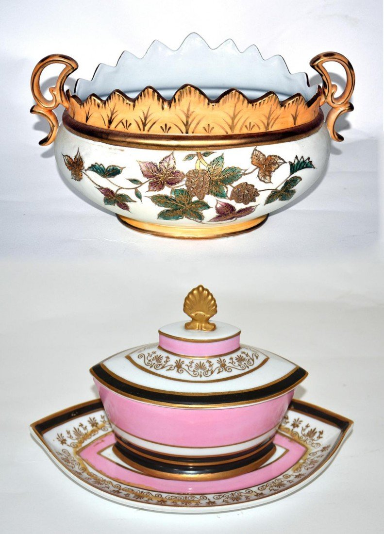 221: Two Porcelain Decorated Items