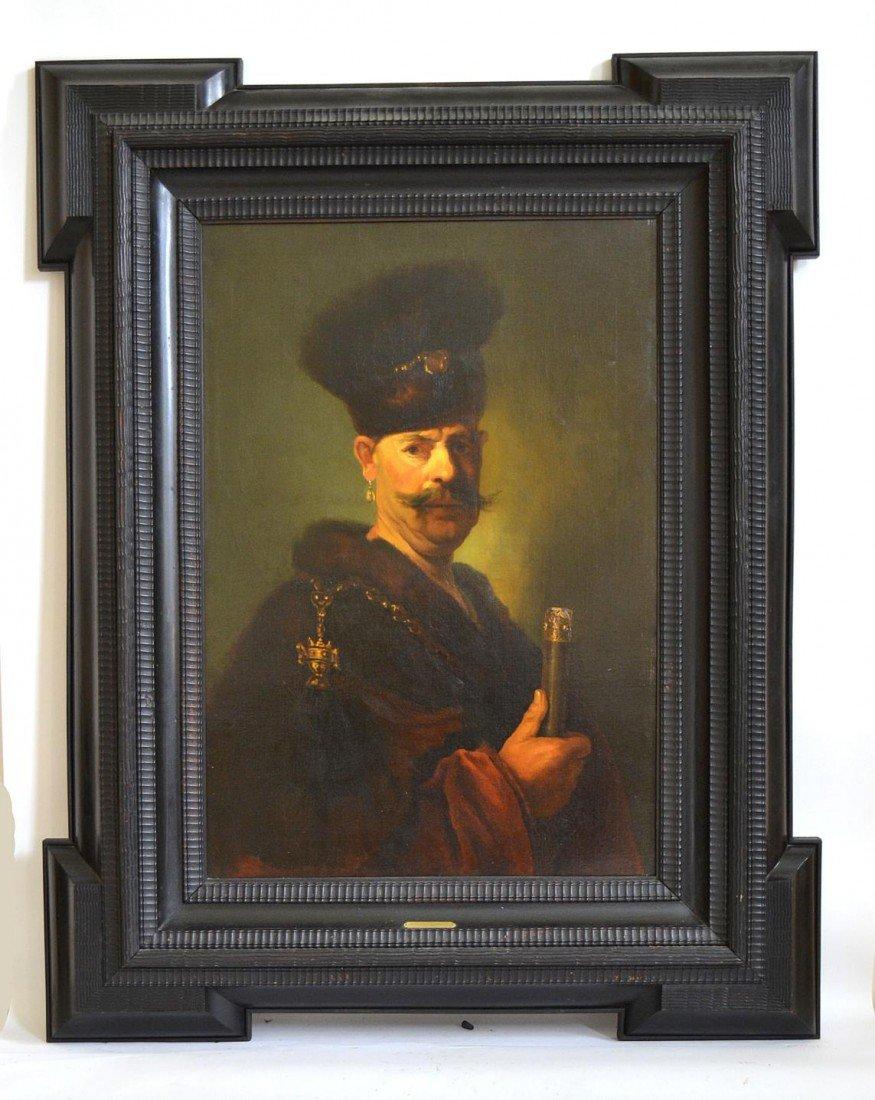222: After Rembrandt - Portrait of a Polish Gentleman.