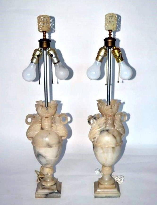 236: Pair of Alabaster Lamps