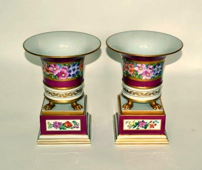 242: Pair of Herend Porcelain Cachepots