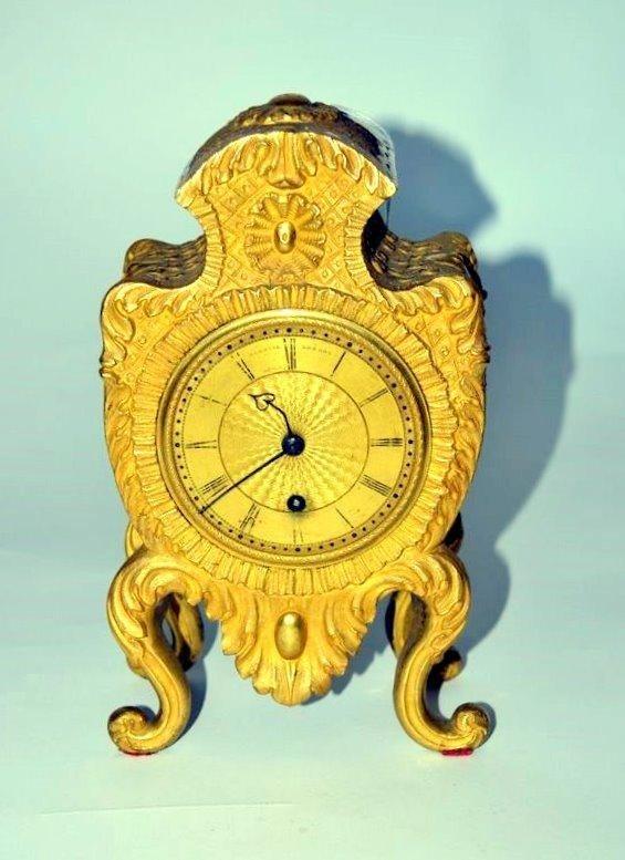 245: Empire Bronze Dore Clock