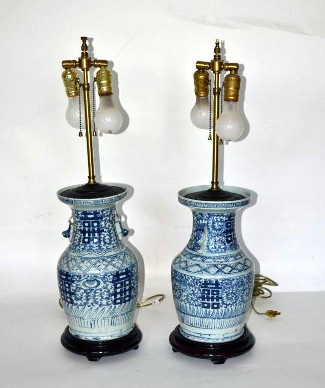 249: Pair of Chinese Lamps