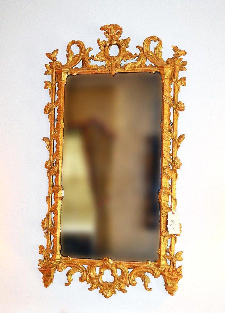 261: French Gilt Wood Mirror
