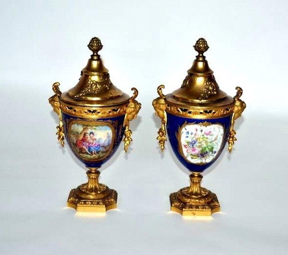 269: Pair of Sevres Covered Urns