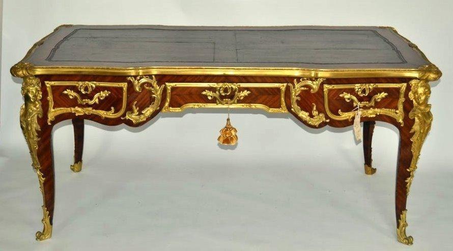 356: French Bronze Bureau Plat [attr. Francois Linke]