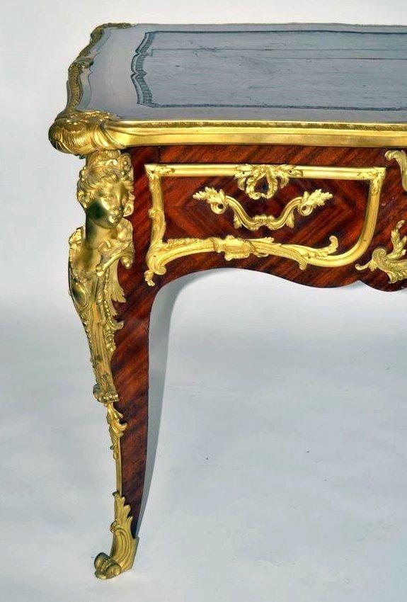 356: French Bronze Bureau Plat [attr. Francois Linke] - 2