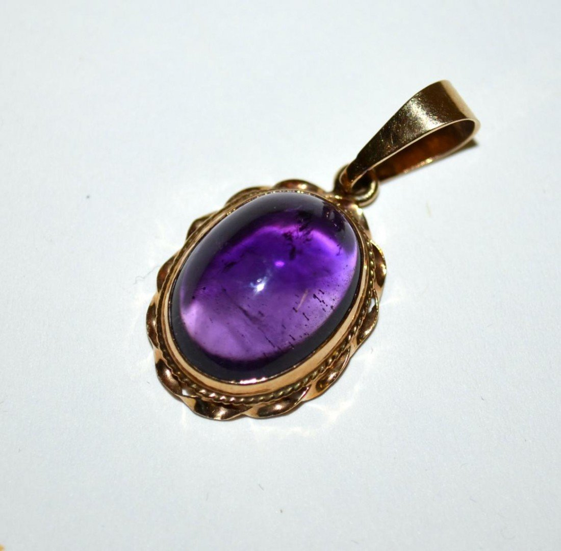 537: Two 14k Gold & Amethyst Articles - 4