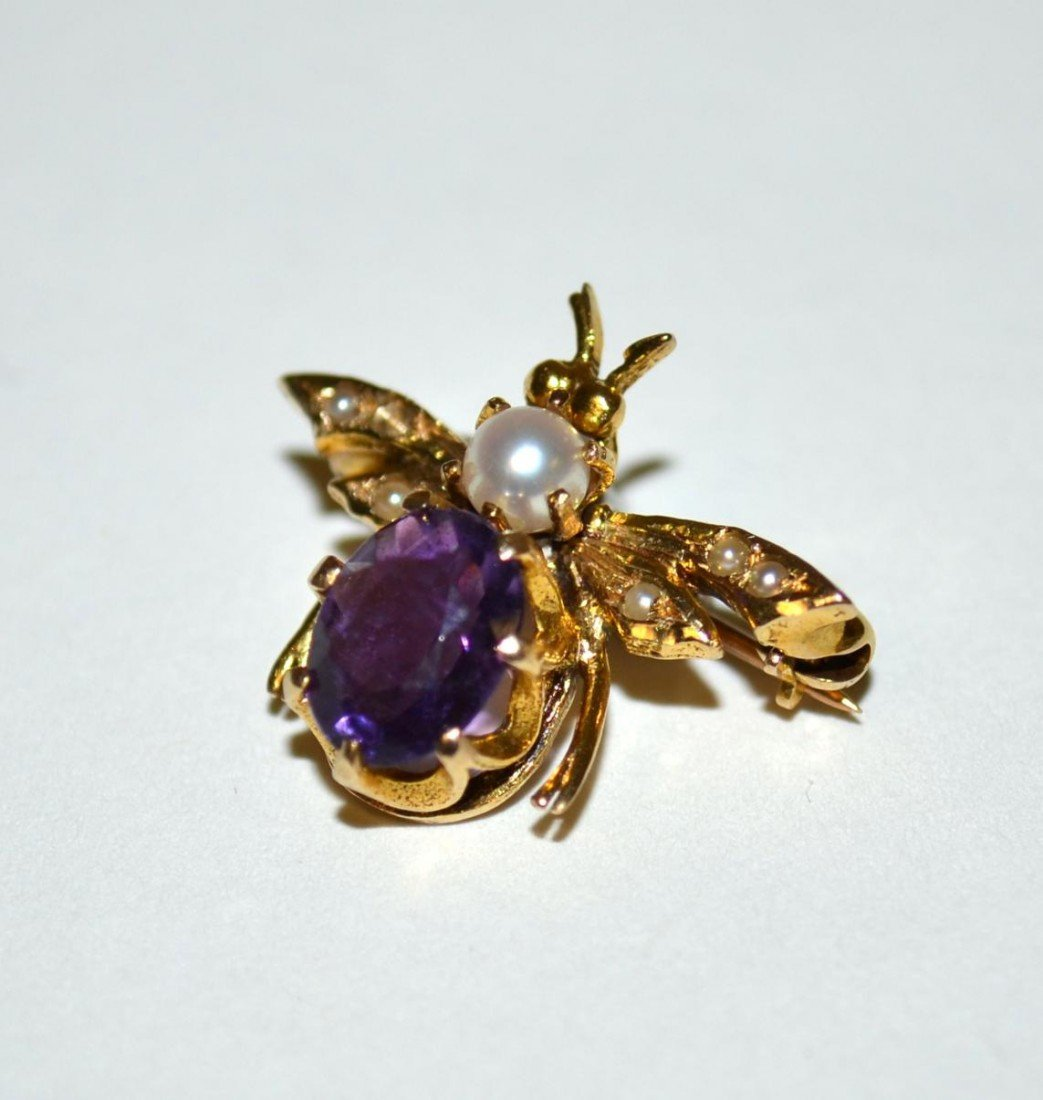 537: Two 14k Gold & Amethyst Articles - 5