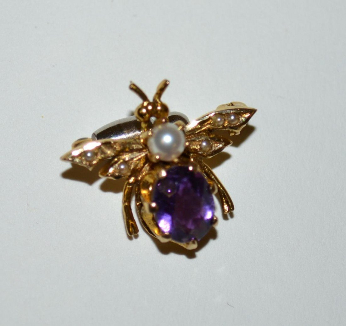 537: Two 14k Gold & Amethyst Articles - 8