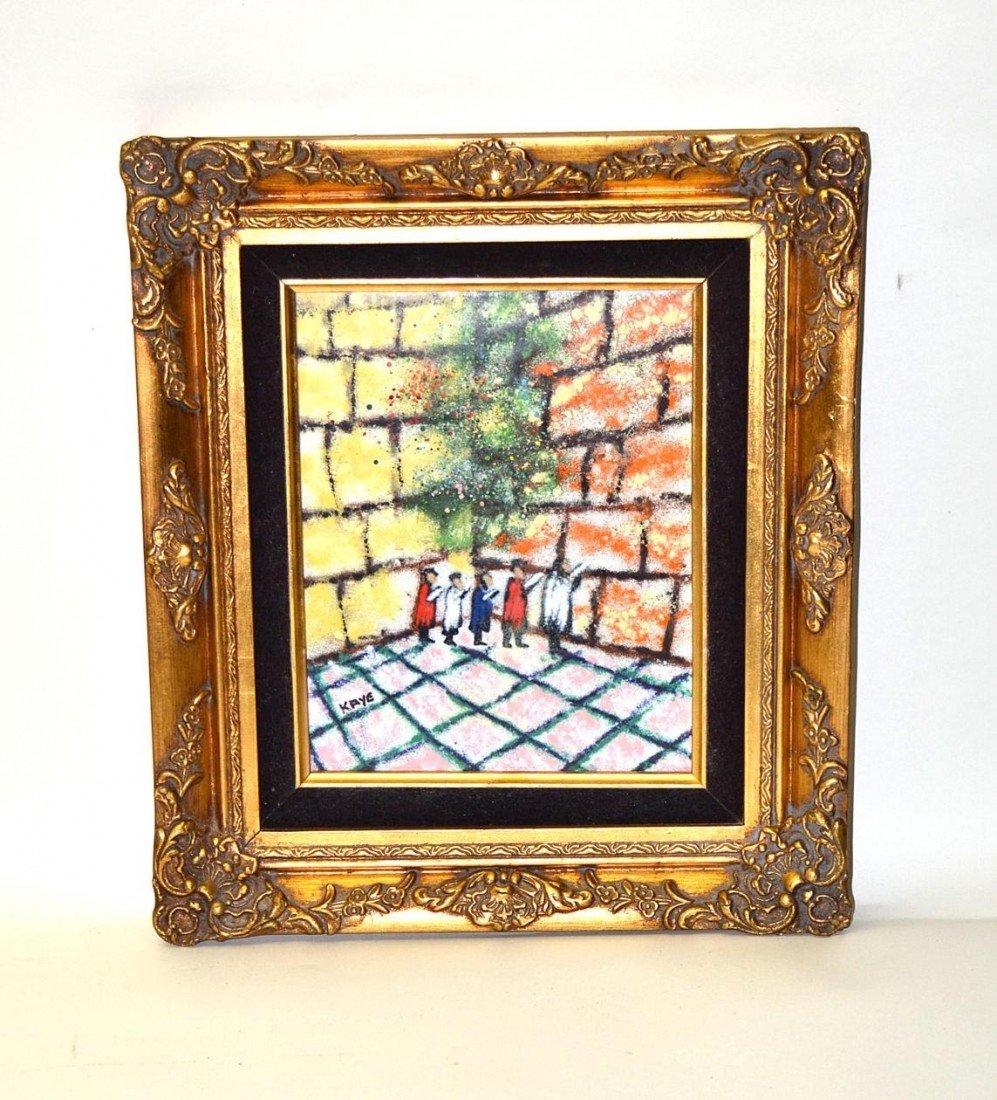 10: Kaye, Oil on Enamel Judaica