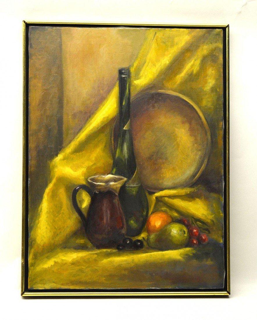 13: Oil on Canvas Still Life