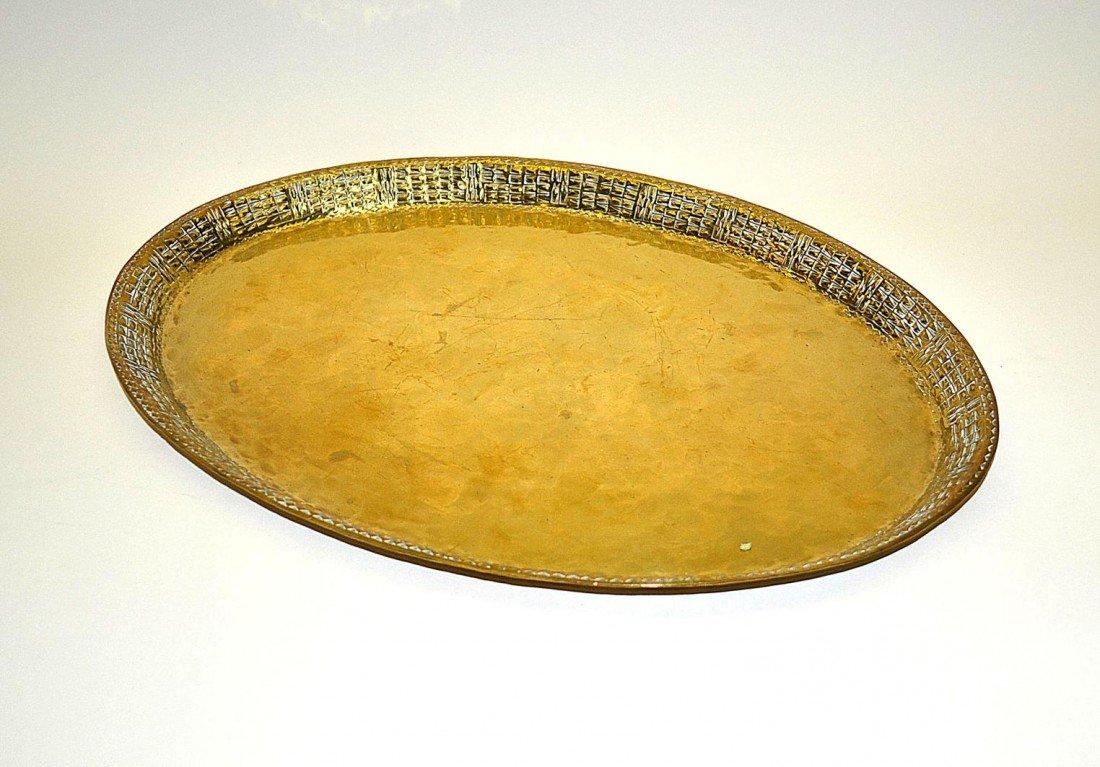 17: Brass Tray Marked Mendelsson